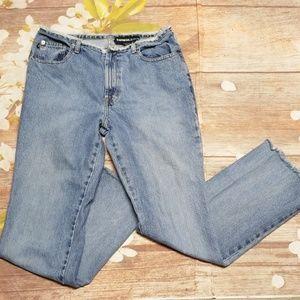 Express destroyed hem & waist flare jeans